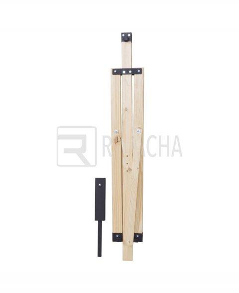 Paraguas fabricados en madera con base de metal