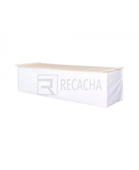 Faldón de PVC para mesa de mercado color blanco