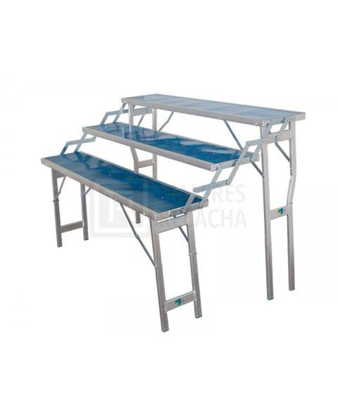 Mesa de Aluminio 3 Escalones