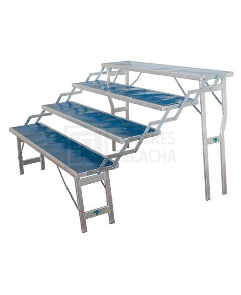Mesa de Aluminio 4 Escalones