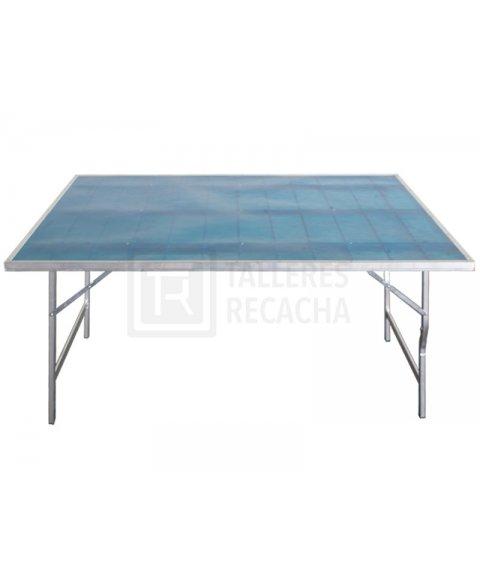 Mesa de aluminio para mercadillo