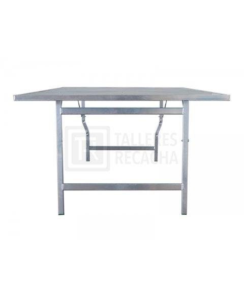 Mesa de aluminio para mercado (vista lateral)