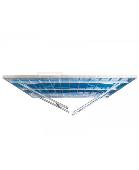 Mesa de aluminio para mercado con patas plegables